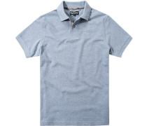Polo-Shirt Polo Baumwoll-Piqué bleu meliert