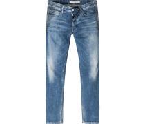 Herren Jeans Baumwoll-Stretch jeansblau