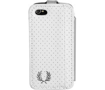 Herren  FRED PERRY Smart Phone Case Kunstleder weiß