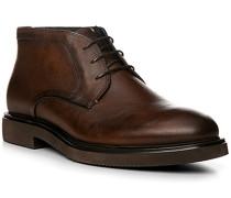 Schuhe Schnürstiefeletten, Leder, cognac