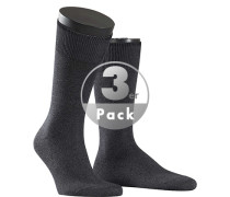 Socken Socken Baumwolle-Kaschmir anthrazit meliert
