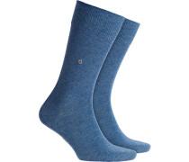 Socken, Baumwolle, jeansblau meliert