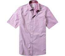 Herren Hemd Modern Fit Strukturgewebe flieder violett