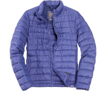 Daunen-Jacke Nylon klimaregulierend kobaltblau