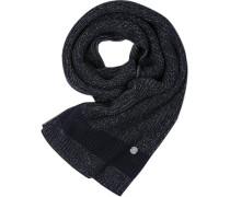Marc O´Polo Schal Baumwolle-Wolle tiefseeblau-grau meliert