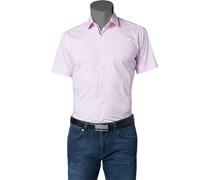 Herren Hemd Slim Fit Popeline-Stretch rosé rosa