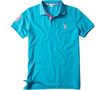 Polo-Shirt Polo Baumwoll-Piqué helltürkis