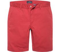 Hose Bermudashorts Baumwolle rubinrot