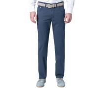 Herren Jeans Regular Fit Baumwoll-Stretch marine blau
