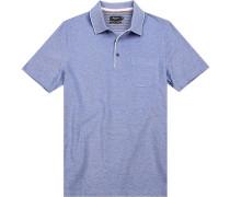 Polo-Shirt Polo, Baumwoll-Pique, meliert