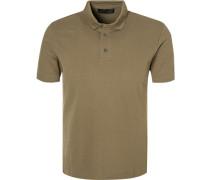 Herren Polo-Shirt Polo Baumwoll-Piqué khaki grün