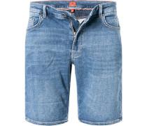 Jeansshorts Regular Fit Baumwolle jeansblau