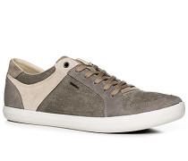 Herren Schuhe Sneaker Veloursleder-Canvas beige-taupe