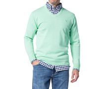 Herren Pullover Baumwolle türkis blau
