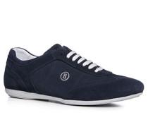 Herren Schuhe Sneaker Veloursleder navy blau,weiß