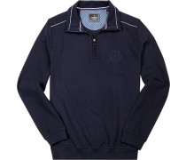 Sweatshirt Baumwolle marineblau