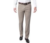 Herren Jeans Contemporary Fit Baumwoll-Stretch beige meliert