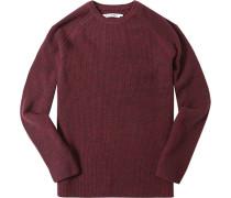 Pullover Lammwolle bordeaux meliert