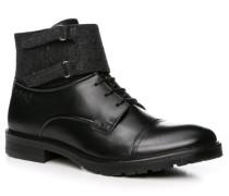 Schuhe Stiefeletten Leder-Textil