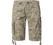 Hose Cargoshorts Regular Fit Baumwolle camouflage