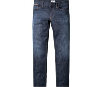 Jeans Regular Fit Baumwoll-Stretch indigo