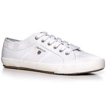 Herren Schuhe Sneaker Fischgrat weiß weiß,blau