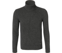 Pullover Pulli Wolle anthrazit meliert