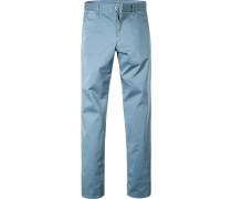 Hose Chinohose Modern Fit Baumwolle taubenblau