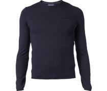 Pullover Pulli Baumwolle nachtblau meliert