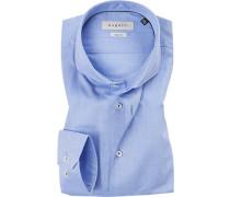 Hemd, Modern Fit, Baumwolle, hellblau