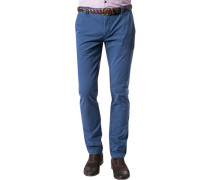 Herren Hose Chino Ciwood Baumwoll-Stretch azurblau