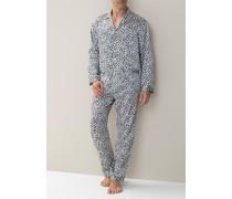 Schlafanzug Pyjama Seide gemustert