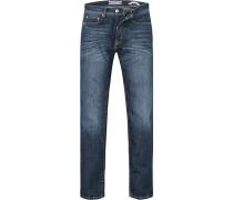Herren Jeans Modern Fit Baumwoll-Stretch indigo grau