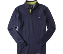 Herren Polo-Shirt Polo Baumwoll-Jersey tintenblau