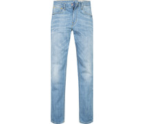 Jeans Slim Fit Baumwoll-Stretch hellblau