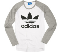 T-Shirt Longsleeve Baumwolle -grau