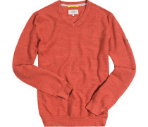 Pullover, Baumwolle, rost meliert