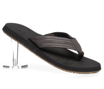 Schuhe Zehensandalen, Kunststoff, dunkelbraun