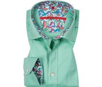 Hemd, Classic Fit, Baumwolle, meliert