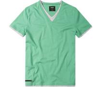 T-Shirt Baumwoll- Jersey Hellgrün