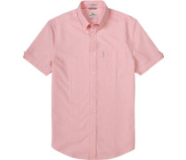 Hemd, Oxford, rosa-weiß meliert