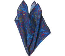 Herren Accessoires  Einstecktuch Wolle blau-rot paisley