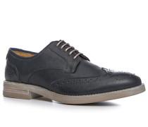 Herren Schuhe Budapester Glattleder dunkelblau