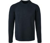 Pullover Schurwolle-Kaschmir nachtblau