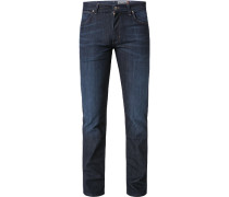 Jeans Regular Fit Baumwolle dunkelblau