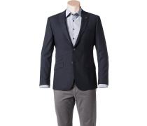 Herren Sakko Slim Fit Woll-Mix marine blau
