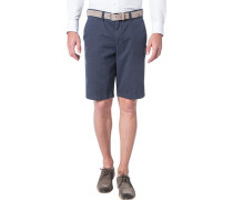 Herren Hose Shorts Modern Fit Baumwoll-Stretch dunkelblau
