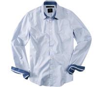 Herren Hemd bleu blau