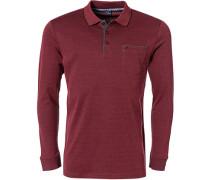 Polo-Shirt Polo Baumwoll-Piqué rubinrot meliert