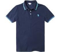 Herren Polo-Shirt Polo Baumwoll-Piqué navy blau